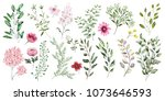 watercolor illustration.... | Shutterstock . vector #1073646593