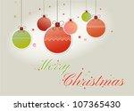 hanging christmas balls | Shutterstock .eps vector #107365430