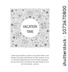 linear style design template... | Shutterstock .eps vector #1073670800