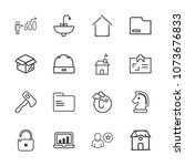 premium outline set of icons... | Shutterstock .eps vector #1073676833