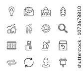 premium outline set of icons...   Shutterstock .eps vector #1073678810