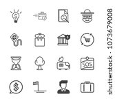 premium outline set of icons... | Shutterstock .eps vector #1073679008