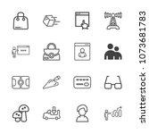 premium outline set of icons... | Shutterstock .eps vector #1073681783