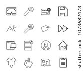 premium outline set of icons... | Shutterstock .eps vector #1073682473