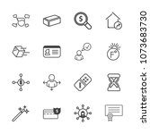 premium outline set of icons... | Shutterstock .eps vector #1073683730