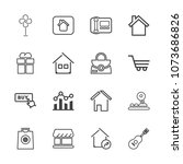 premium outline set of icons... | Shutterstock .eps vector #1073686826