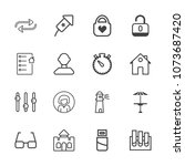 premium outline set of icons... | Shutterstock .eps vector #1073687420