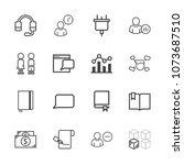 premium outline set of icons... | Shutterstock .eps vector #1073687510