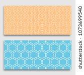 seamless horizontal borders... | Shutterstock .eps vector #1073699540