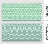 seamless horizontal borders... | Shutterstock .eps vector #1073699558