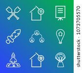 premium outline set of icons... | Shutterstock .eps vector #1073705570