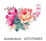 flowers carry the scent of... | Shutterstock . vector #1073724023