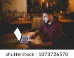 a young handsome caucasian man... | Shutterstock . vector #1073726570