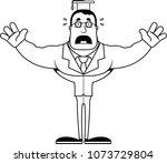 a cartoon teacher looking... | Shutterstock .eps vector #1073729804
