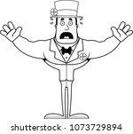 a cartoon irish man looking... | Shutterstock .eps vector #1073729894