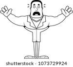 a cartoon doctor looking scared. | Shutterstock .eps vector #1073729924