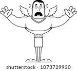 a cartoon cupid looking scared. | Shutterstock .eps vector #1073729930