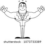 a cartoon businessperson ready... | Shutterstock .eps vector #1073733389