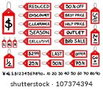 handwritten sale tags | Shutterstock .eps vector #107374394
