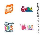 kids channel logo design | Shutterstock .eps vector #1073746976