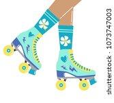 fun cartoon illustration with... | Shutterstock .eps vector #1073747003