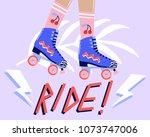 fun cartoon illustration with... | Shutterstock .eps vector #1073747006