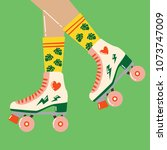 fun cartoon illustration with... | Shutterstock .eps vector #1073747009