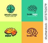 brain logo design | Shutterstock .eps vector #1073752079