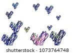 hand draw  embroidered  stylish ... | Shutterstock .eps vector #1073764748