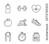 doodle health and fitness icon. ... | Shutterstock .eps vector #1073769353