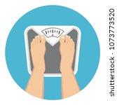 scale balance weight flat... | Shutterstock .eps vector #1073773520