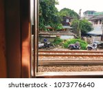 nature outside view in the train | Shutterstock . vector #1073776640