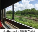 nature outside view in the train | Shutterstock . vector #1073776646