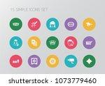 set of 15 editable gambling... | Shutterstock .eps vector #1073779460