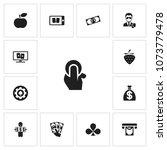 set of 13 editable casino icons....