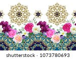 seamless border with spring... | Shutterstock .eps vector #1073780693