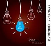 light bulb idea vector... | Shutterstock .eps vector #107378198