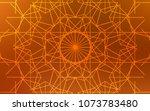 light orange vector doodle... | Shutterstock .eps vector #1073783480