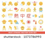 heat stroke symptom and... | Shutterstock .eps vector #1073786993