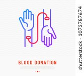 blood donation concept ... | Shutterstock .eps vector #1073787674