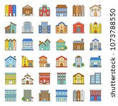 building construction vector... | Shutterstock .eps vector #1073788550