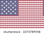 usa color with brick wall... | Shutterstock .eps vector #1073789558