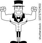 a cartoon ringmaster smiling.   Shutterstock .eps vector #1073792903
