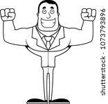 a cartoon businessperson... | Shutterstock .eps vector #1073793896