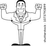 a cartoon businessperson... | Shutterstock .eps vector #1073793899