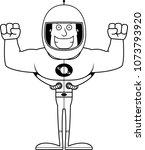 a cartoon astronaut smiling.   Shutterstock .eps vector #1073793920