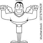 a cartoon angel smiling.   Shutterstock .eps vector #1073793929