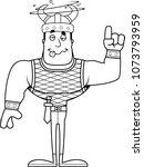 a cartoon viking looking drunk.   Shutterstock .eps vector #1073793959