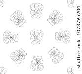 seamless pattern. plant in... | Shutterstock .eps vector #1073795204