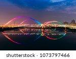 crescent bridge   landmark of... | Shutterstock . vector #1073797466